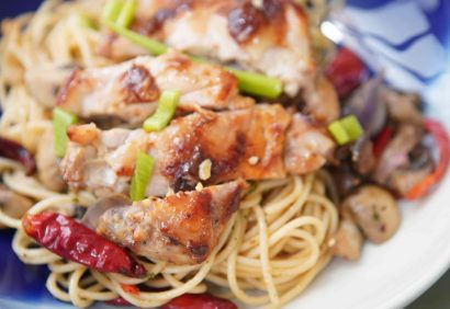 grilled miso chicken pasta 1